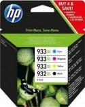 Cartouche d'encre HP Pack 932XL+933XL Pack 1 Noir, 3 Couleurs