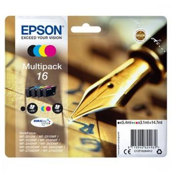 Cartouche d'encre Epson 16XL Pack 1 noir 3 couleurs - Stylo à plume