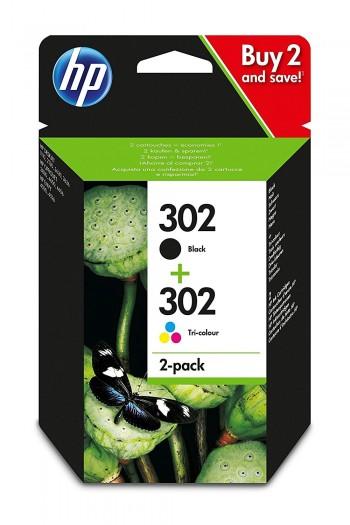 Cartouche d'encre HP 302 Pack Noir + Couleurs