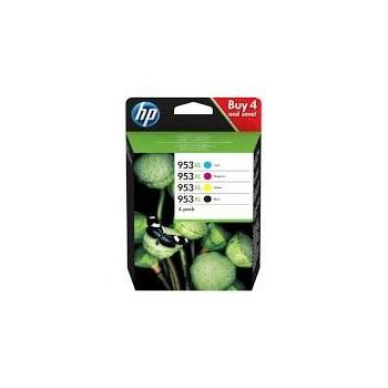 Cartouche d'encre HP 953XL Pack Noir + Couleurs