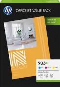 Cartouche d'encre HP 903XL Pack 3 Couleurs + Papier HP 1CC20AE