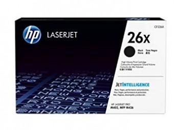 Cartouche de Toner laser HP 26X Noir grande capacité CF226X