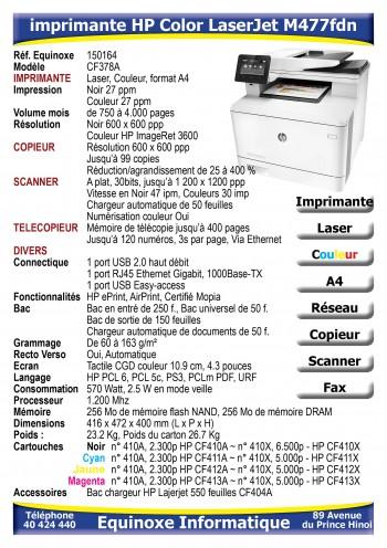 Imprimante Laser HP Color LaserJet M477fdn