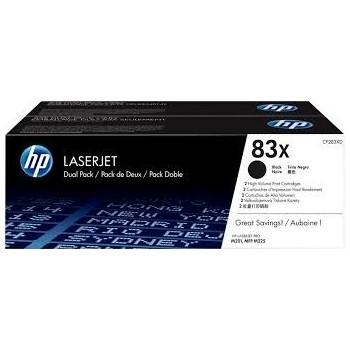 Cartouche de Toner laser HP 83XD Noir CF283XD Pack de 2