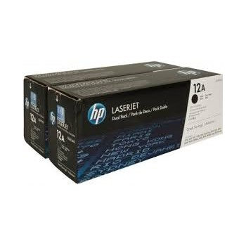 Cartouche de Toner laser HP 12A Noir Q2612AD Pack de 2