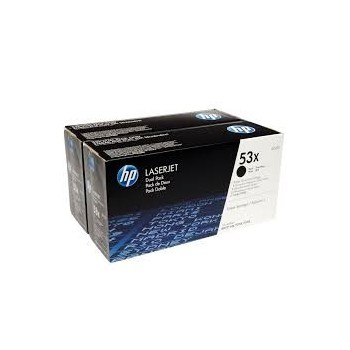 Cartouche de Toner laser HP 53X Noir Q7553XD Pack de 2