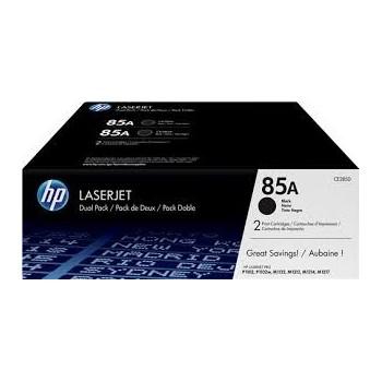 Cartouche de Toner laser HP 85A Noir CE285AD Pack de 2