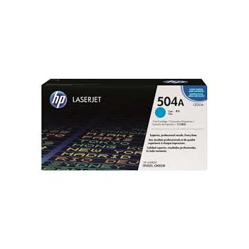 Cartouche de Toner laser HP 504A Cyan CE251A