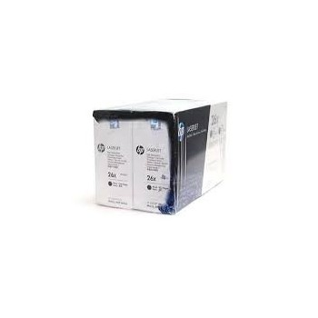 Cartouche de Toner laser HP 26X Noir grande capacité CF226XD Pack x2