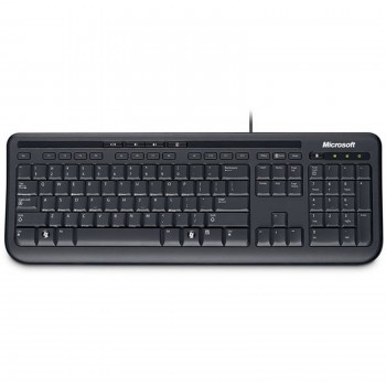 Clavier Microsoft Wired Keyboard 600 Noir Filaire USB