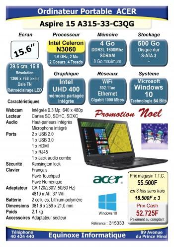 Ordinateur portable Acer Aspire 15 A315-32-C0BE