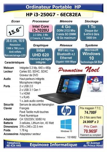 Ordinateur portable HP 15 250G7-6EC82EA