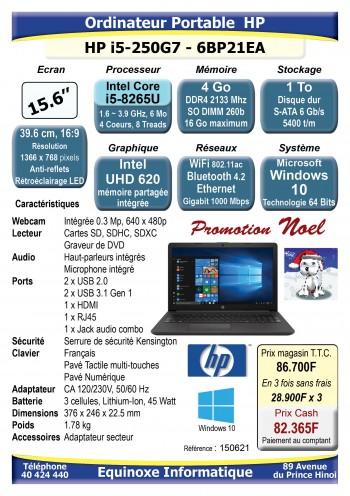 copy of Ordinateur portable HP 15 250G7-6BP21EA