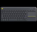 Clavier Logitech K400 Plus Wireless Touche, Sans fil noir