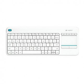 Clavier Logitech K400 Plus Wireless Touche, Sans fil Blanc