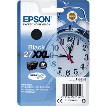 Cartouche d'encre Epson 27XXL Noir - Réveil
